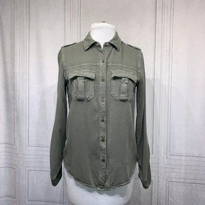 2/$12‼️Mossimo Army Green Button Down Shirt S